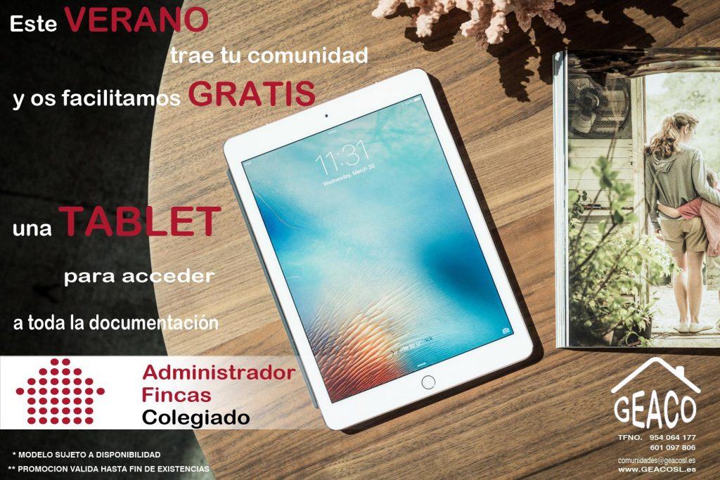 Tablet Gratis GEACO administrador de fincas en sevilla
